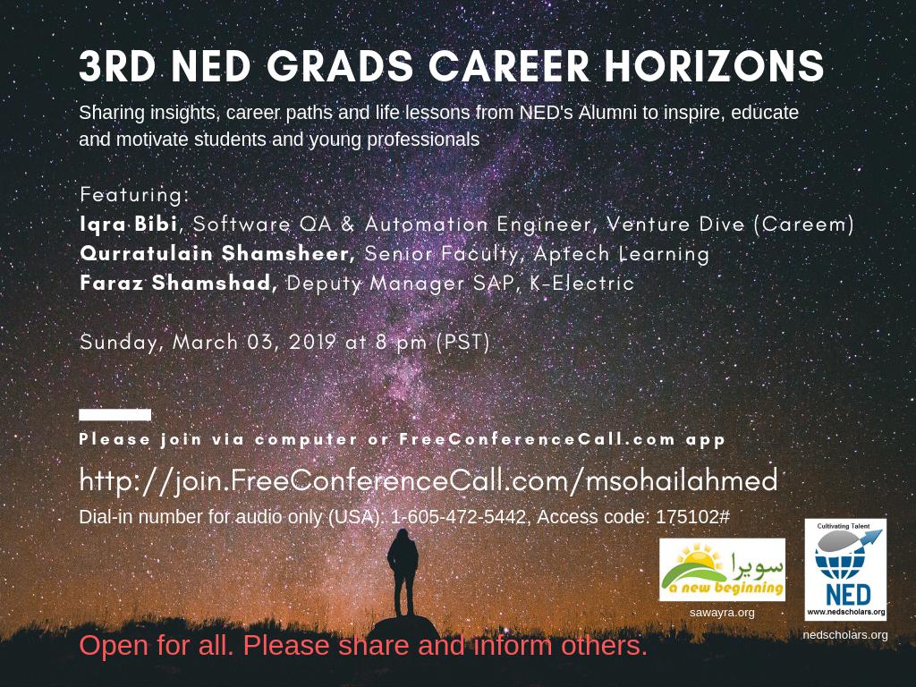 3rd Session Ned Grads career horizons (3) – NED Scholars